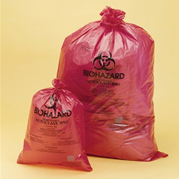 "Biohazard Trash Bag 14"" x 19"" Red"